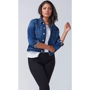 Lane Bryant Denim Jacket With Forward Side Seams